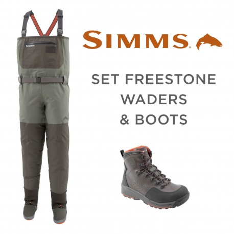 Set Simms Freestone Waders and Boots