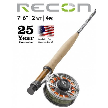 """Fly Rod Orvis Recon Freshwater 7'6"""" line 2 - 4-piece"""