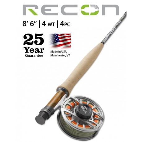 """Fly Rod Orvis Recon Freshwater 8'6"""" line 4 - 4 piece"""