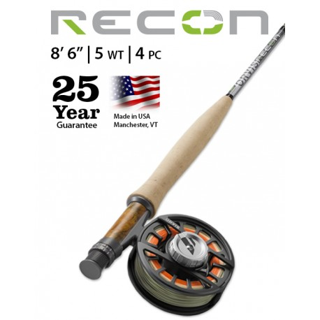 """Fly Rod Orvis Recon Freshwater 8'6"""" line 5 - 4 piece"""