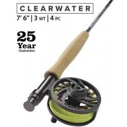 """Fly Rod Orvis Clearwater Freshwater 7'6"""" line 3 - 4 piece"""
