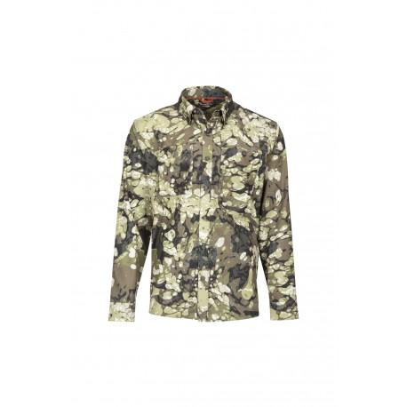 Simms Double Haul Shirt Riparian Camo