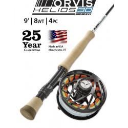 Fly Rod Orvis Helios 3D 9' line 8 - 4 piece